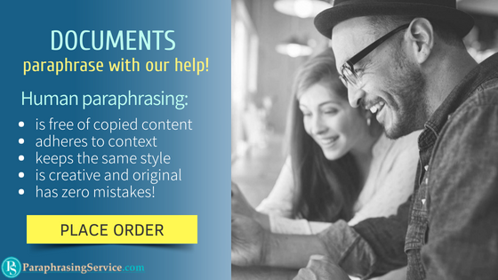 how to paraphrase documents with our help